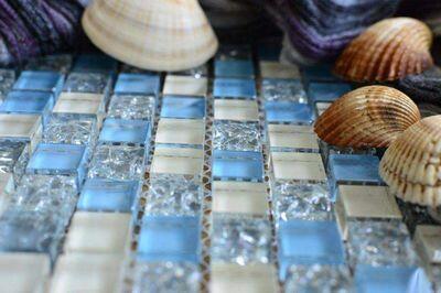 Mosaici di vetro per il bagno
