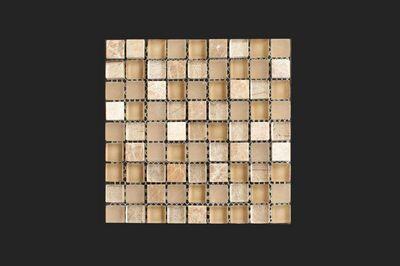 Mosaico beige bagno elegante per un ambiete caldo e confortevole